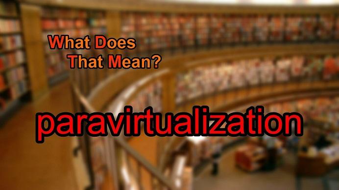 انواع سرورهای مجازی- مجازی سازی موازی